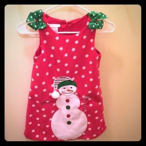 Size 6 Polyester winter Holiday Snowman jumper